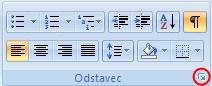 Základy formátování odstavce