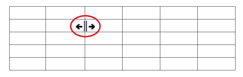 Základní formátování tabulek – velikost buněk